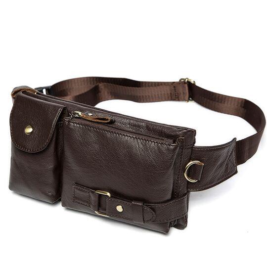 Поясные сумки - Поясная сумка мужская WESTAL , коричневая П1654