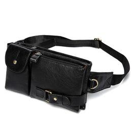 Поясная сумка мужская WESTAL , черная 1655
