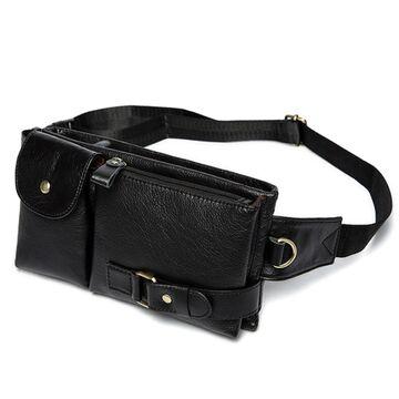Поясная сумка мужская WESTAL , черная П1655