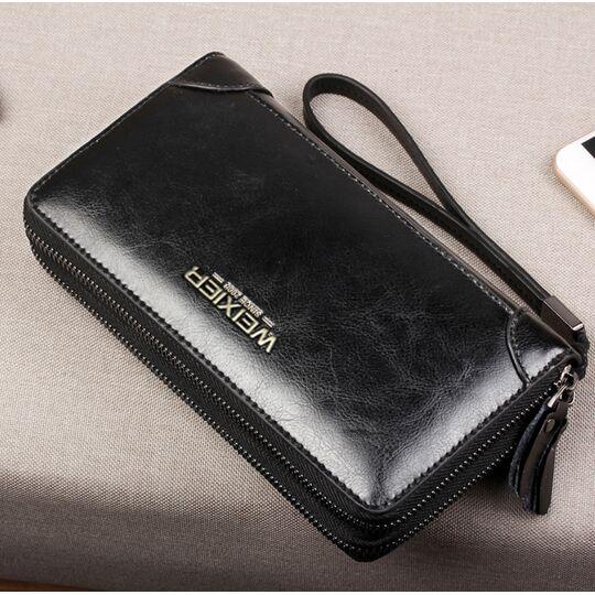 Барсетка мужская, портмоне, черная П1668