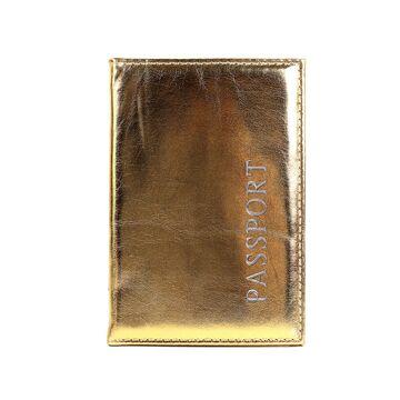 Обложка для паспорта, золотистая П1680