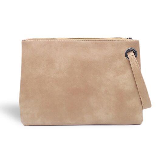 Женские сумки - Клатч сумка женская, бежевый П1689