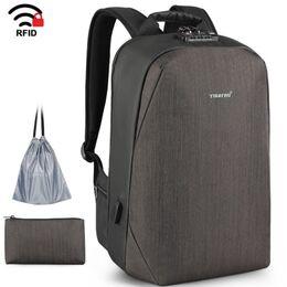 Рюкзак для ноутбука с RFID, коричневый 1694
