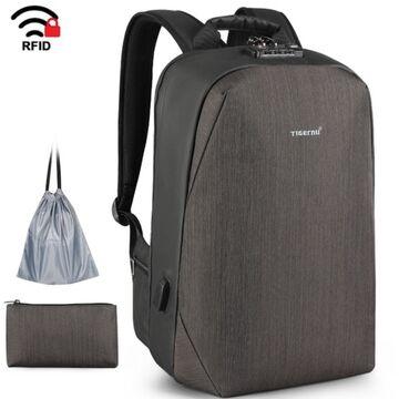 Рюкзак для ноутбука с RFID, коричневый П1694