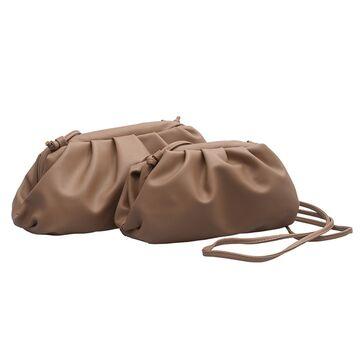 Сумка женская, клатч LEFTSIDE большая, коричневая П1699