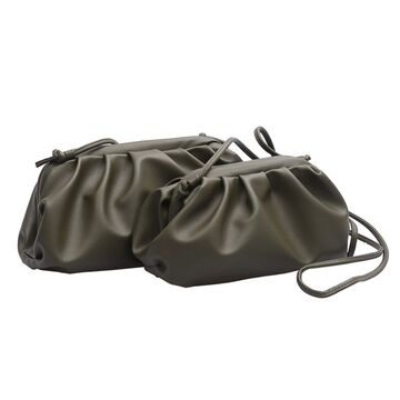 Женские сумки - Сумка женская, клатч LEFTSIDE большая, зеленая П1701