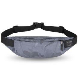 """Поясная сумка мужская """"HK"""", серый камуфляж 1702"""