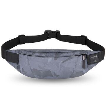 """Поясная сумка мужская """"HK"""", серый камуфляж П1702"""