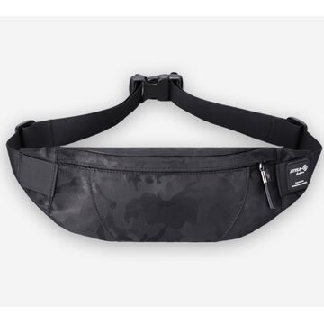 """Поясная сумка мужская """"HK"""", черный камуфляж П1704"""