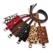 Поясные сумки - Сумка поясная женская, Леопард, коричневая П1711