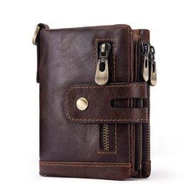 Мужское портмоне KAVIS, коричневый 1717