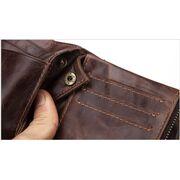 Мужские кошельки - Мужское портмоне KAVIS, коричневый П1717