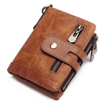 Мужское портмоне KAVIS, коричневый П1718