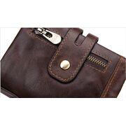 Мужские кошельки - Мужское портмоне KAVIS, коричневый П1718