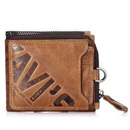 Мужское портмоне KAVIS, коричневый 1720