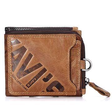 Мужское портмоне KAVIS, коричневый П1720