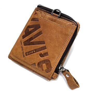 Мужское портмоне KAVIS, коричневый 1721