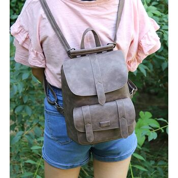Женский рюкзак, коричневый П1735