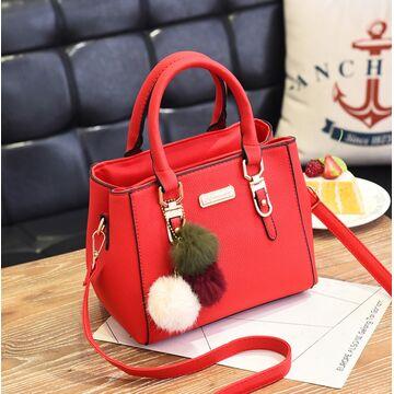 Женская сумка, красная П1757