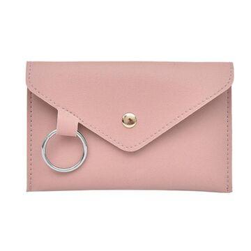 Сумка клатч на пояс, розовая П1766