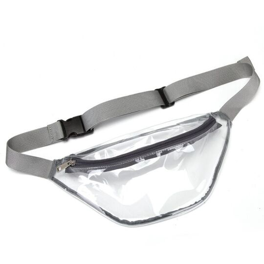 Поясные сумки - Сумка поясная женская прозрачная, П1771