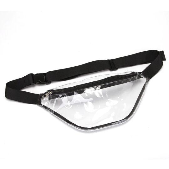 Поясные сумки - Сумка поясная женская прозрачная, П1773