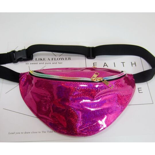 Поясные сумки - Сумка поясная женская прозрачная, П1780