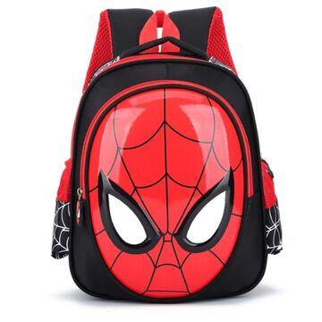 """Детские рюкзаки - Детский рюкзак """"Человек Паук"""", черный П0081"""