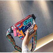 Женская поясная сумка, бананка, граффити П1810