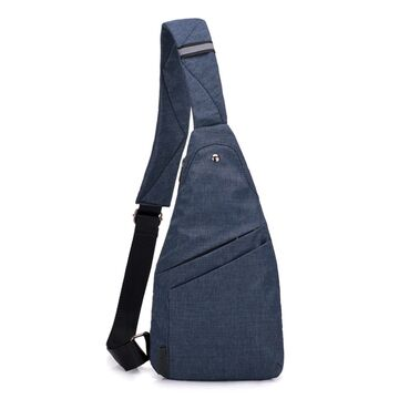 Мужская сумка слинг на плечо, синяя П1837