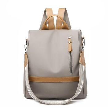 Рюкзак женский, серый 1839