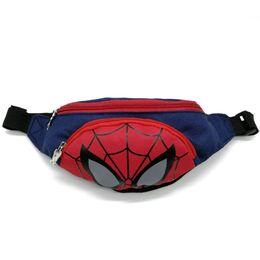 """Поясная сумка для детей, бананка, """"Человек паук"""" 1848"""