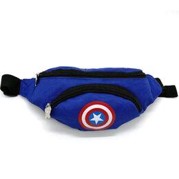 """Поясная сумка для детей, бананка, """"Капитан Америка"""" 1849"""