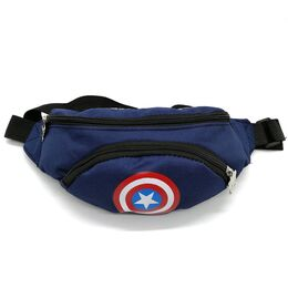 """Поясная сумка для детей, бананка, """"Капитан Америка"""" 1850"""