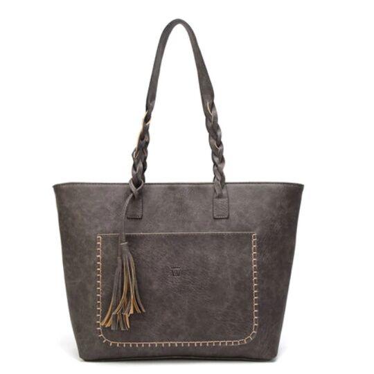 Женские сумки - Женская сумка, коричневая П0090