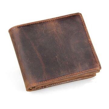 Мужской кошелек COWATHER, коричневый П1874