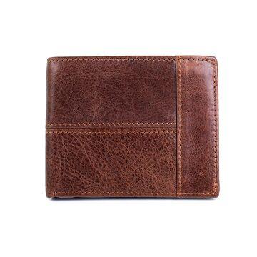 Мужской кошелек COWATHER, коричневый П1877
