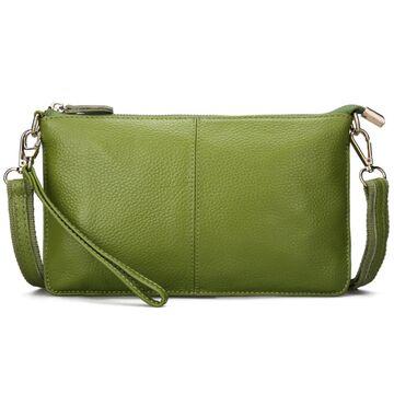Женская сумка клатч, зеленая П1885