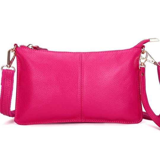 Женская сумка клатч, розовая П1888