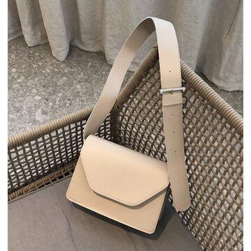 Женская сумка, бежевая П1889