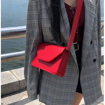 Женская сумка, красная П1890