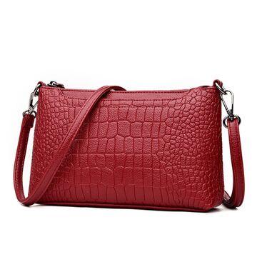 Женская сумка клатч, красная П1891