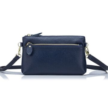 Женская сумка клатч, синяя П1893