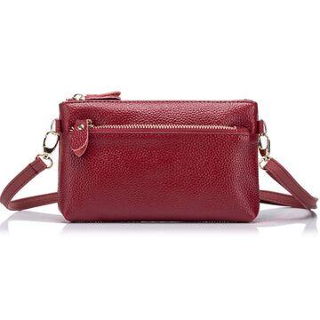 Женская сумка клатч, красная П1896