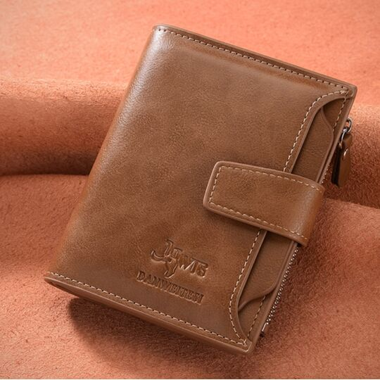 Мужской кошелек DWTS, коричневый П1899
