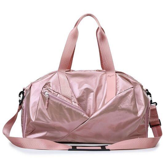 Женская сумка спортивная, розовая П1951
