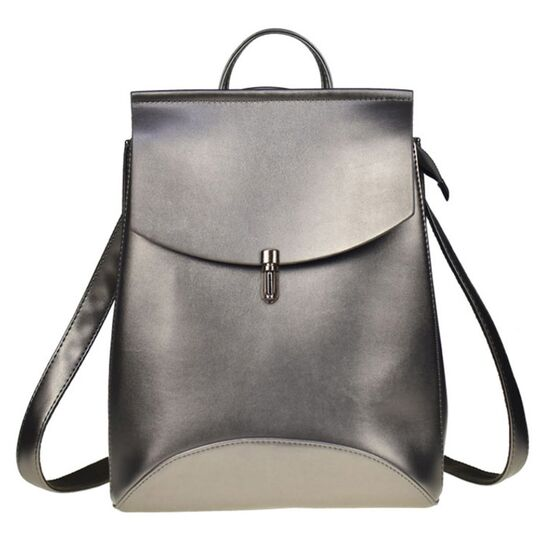 Женский рюкзак, серебристый П1954
