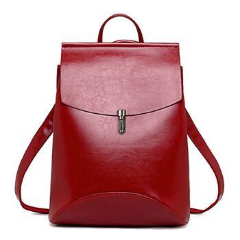 Женский рюкзак, красный П1955