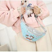 Детская сумка поясная, бананка, Единорог, розовая П1981