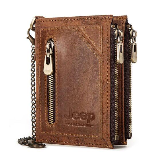 Мужское портмоне KAVIS, коричневый П1986